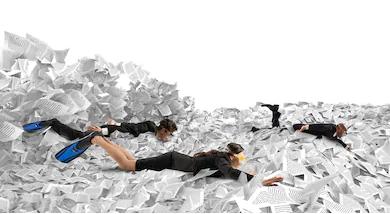 Swimming in Paperwork